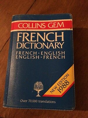 Vintage Frech Dictionary