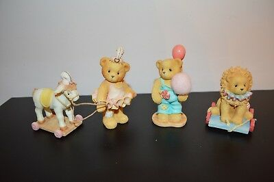 3 Cherished Teddies Tonya, Mike & Your My Mane Attraction Circus Lion Horse