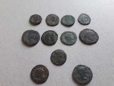 Beutiful Lot Of 11 Ancient Roman  Coins For Cleaned