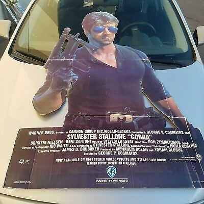 Sylvester Stallone (COBRA) Cardboard Movie Standee used in theaters