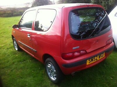 Fiat Cinquecento 1108cc, with history, Full years mot & Fully serviced low miles