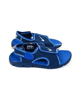 pretty nice 1c02e c073c Nike Sunray Adjust 4 Little Kids Blue Sandals Youth Size s