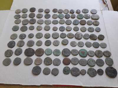 Lot Of 105 Ancient Roman Bronze Coins Uncleaned Medium Qualyti
