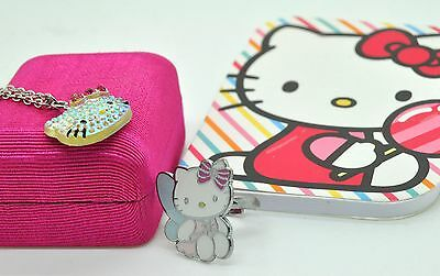 Hello Kitty Sanrio Adjustable RING and Necklace with mini notebook.