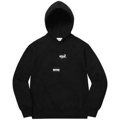 f93a2736e079 Supreme x CDG Comme Des Garcons Box Logo Hoodie Multiple Sizes Black IN  HAND!
