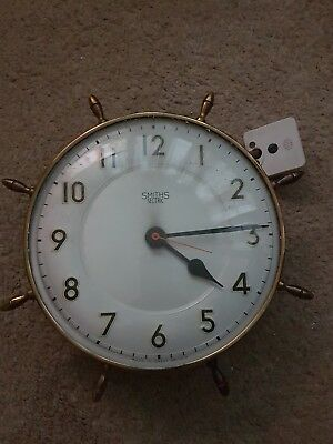 Smiths Sectric Clock Retro Nautical