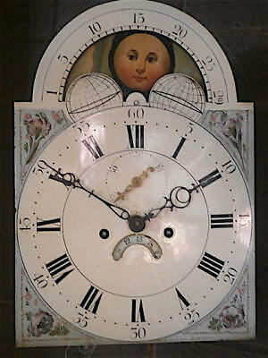 12X17  inch 8DAY moonphase c1810 LONGCASE   CLOCK dial + movement