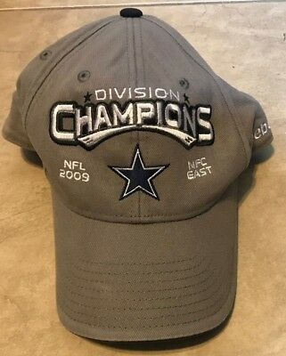 f16e1e28384 Dallas Cowboys NFL Reebok 2009 NFC East Champions Hat Cap One Size Fits All