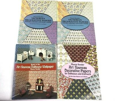 lot of 4 vintage dollhouse wallpaper books Muncie Hendler