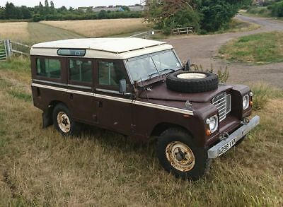 Land rover series 3 Safari station wagon.