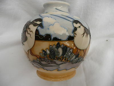 Moorcroft 'beachcombers' Limited Edition Vase No.21 Of 50, 1St Quality, Boxed