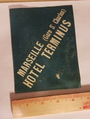 Marseille Hotel Terminus France luggage tag suitcase sticker antique vintage
