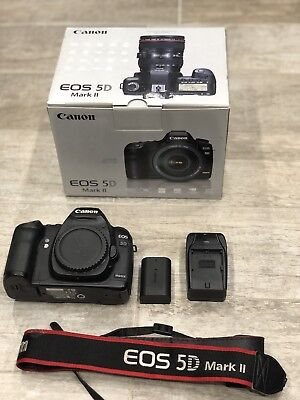 CANON EOS 5D Mark II Mk2 MKII 21.1MP DSLR Body Battery Charger Original Box