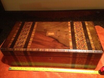 Antique Portable Writing Desk / Box Owned By FW Harrison Mexborough