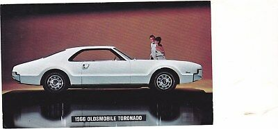 1966 Oldsmobile Toronado Original Factory Postcard,excellent, 3 1/2 X 5 1/2