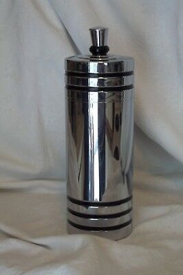 Vtg Deco Cocktail/Martini Shaker Howard Reichenbach Chase Gaiety w/Strainer