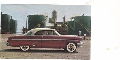 1954 Mercury Original Factory Postcard,excellent,no Creases,3 1/2 X 5 1/2