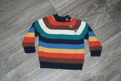 Boys John Lewis Colourful Stripe Jumper 0-3 Months Great Condition