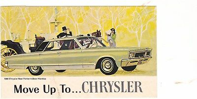 1966 Chrysler Original Factory Postcard,excellent, No Creases, 3 1/ X 5 1/2
