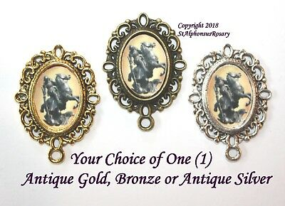 St. George Rosary Center | Rosary Parts | Choice of Silver,  Bronze or Gold