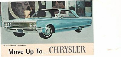 1966 Chrysler Original Factory Postcard, Excellent,unused, No Creases
