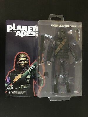 "Neca Planet of the Apes Series 1 Gorilla Soldier Figure 7"" NEW"