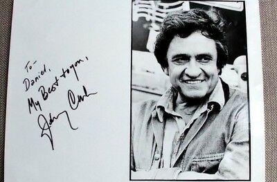Johnny Cash Autographed Photo