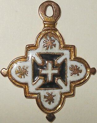 Very rare 17th century Portugal / Brazil Order of the Cruz enamelled badge cross