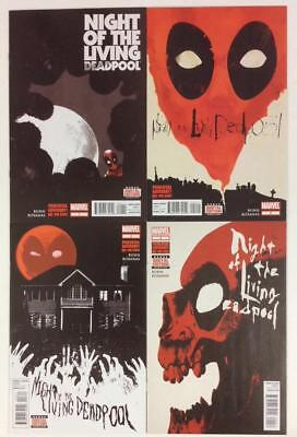 Night Of The Living Deadpool #1 to #4 complete series (Marvel 2014) high grade