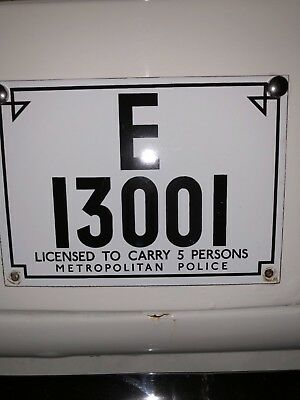 Original Old Style Pco Metal Licence Plate