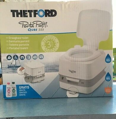 THETFORD PORTA POTTI QUBE 335 caravan portable chemical loo fishing camping
