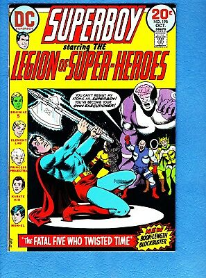 Superboy #198, 1973, VF/NM 9.0,Princess Projectra and Element Lad new costumes
