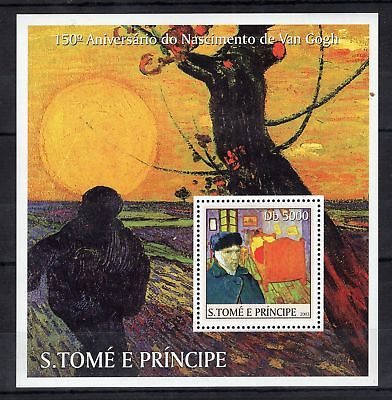 Sao Tome 2003 Vincent Van Gogh Perf Stamps Mnh** A206