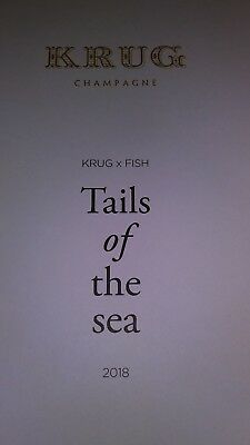 KRUG'S  tail of the sea champagne and fish Chiefs Booklet