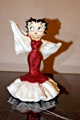 2001 Collectors Betty Boop Red sparkly statue with tag, no box by Westland