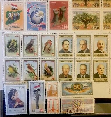 Syria Stamps Full Year Packed 2013