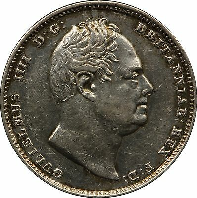1834 William IV Six Pence Silver Coin