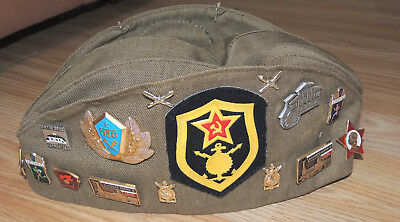 Vintage Russian Boy Scout Beret With 20+ Pins