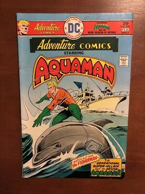 Adventure Comics #443 (1976) 7.5 VF DC Key Issue Comic Bronze Age Aquaman