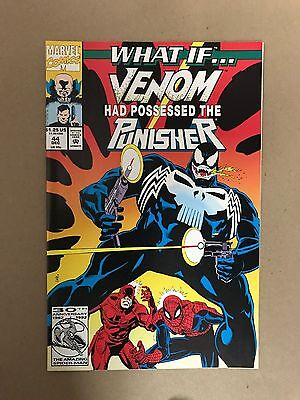What If #44 Venom Possessed The Punisher 1St Print Marvel Comics(1992) Daredevil