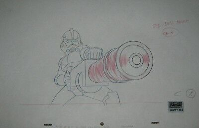 Original production drawing  - Clone Wars (Cartoon Net)