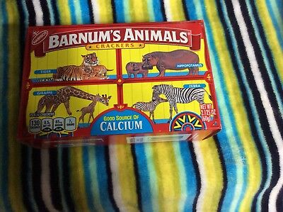 Nabisco Barnums Animal Crackers Box Cage Background brand new...