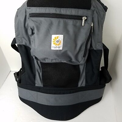 122f5436684 ERGOBABY PERFORMANCE BABY Carrier Charcoal Black Excellent Condition ...
