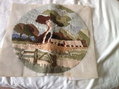 Finished Long Stitch Country Cottage
