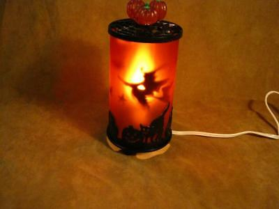 Avon Vintage style Halloween Light up Motion Lamp. Spining Witch Bats Ghosts
