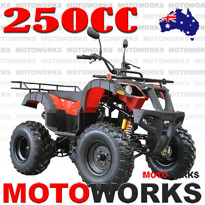 MOTOWORKS 250CC FARM ATV QUAD BUGGY Gokart 4 Wheeler MOTOR BIKE BLACK