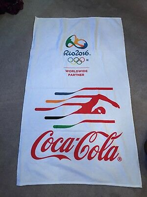 New Authentic Coca-Cola USA Rio 2016 Olympics Beach Towel Rio