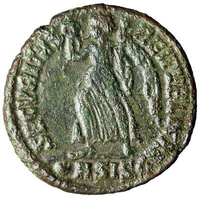 """ANGEL LIKE Roman Coin of Valens Circa 364-367 AD """"Victory"""" CERTIFIED AUTHENTIC"""