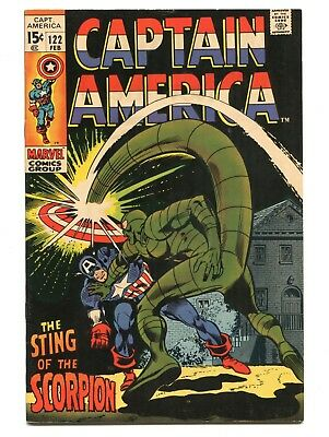 1970 Marvel Captain America #122 The Scorpion Fine+ D5