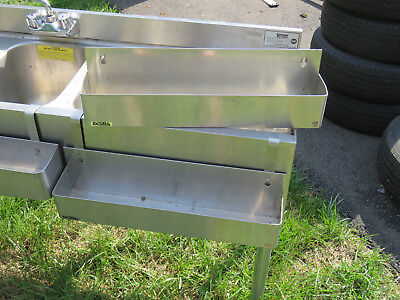 3 Speed Rails for Liquor or Mixers / Stainless Steel Single Tier Commercial Unit
